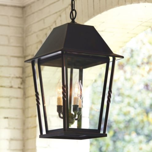 Audrey Oil Rubbed Bronze Pendant Outdoor Light Fixture