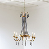 Casa Florentina Umberto 6-Light Chandelier - Select Color