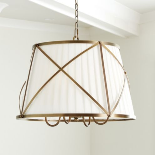 Kenneth Pleated Drum Chandelier