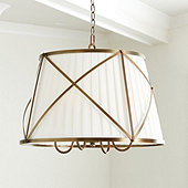 Kenneth Pleated Drum Shade Chandelier
