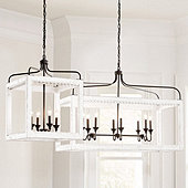 Eliza Antiqued Wood Chandelier