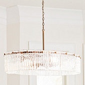 Brinkley Oval Glass Chandelier