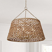 Poppy Woven Drum 6-Light Chandelier