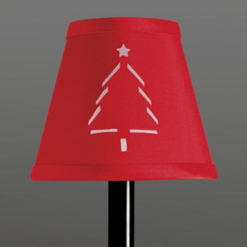 Christmas Tree Chandelier Shade - Dupioni Silk Chandelier