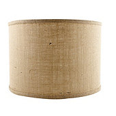 Can Light Adapter - Drum Replacement Shade - Natural Burlap