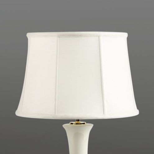 Couture Tapered Drum Lamp Shade Oatmeal Linen 18