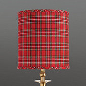 Suzanne Kasler Holiday Plaid Drum Buffet Shade