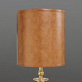 Faux Leather Buffet Shade