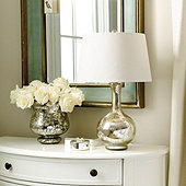 Suzanne Kasler Mercury Glass Gourd Lamp - Small