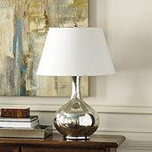 Suzanne Kasler Mercury Glass Gourd Lamp - Large