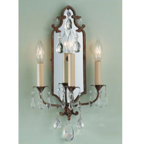 Verdi 3 Light Mirrored Sconce Lighting Ballard Designs