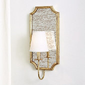 Cora Antiqued Mirror Sconce