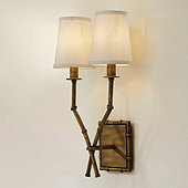 Double Arm Bamboo Sconce