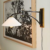 Harrison Swing Arm Sconce with Shade