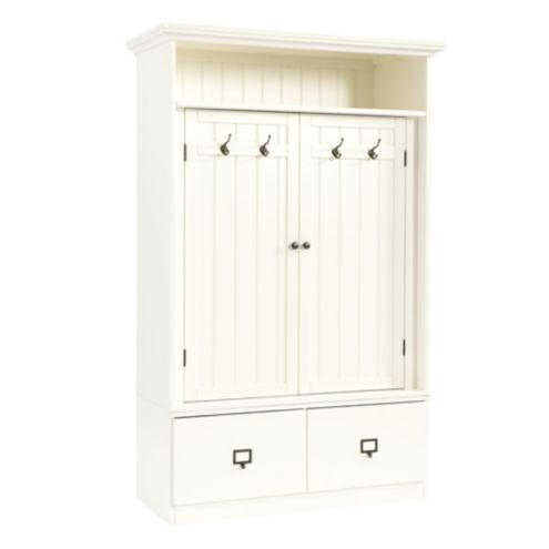 Beadboard Entry Cabinet with Doors