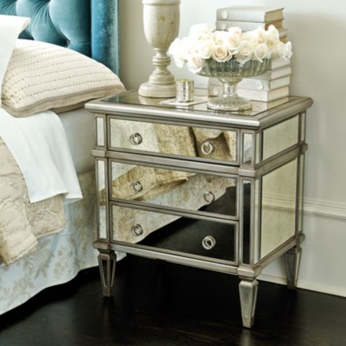 Addison Mirrored Side Table Ballard Designs