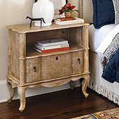Serpentine 1-Drawer Side Table