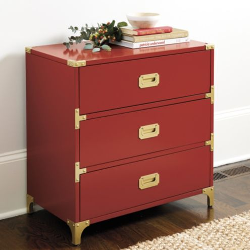Charlotte 3-Drawer Campaign Chest