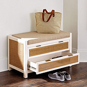 Spencer Storage Bench with Cushion