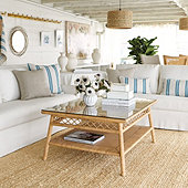 Suzanne Kasler Southport Rattan Coffee Table