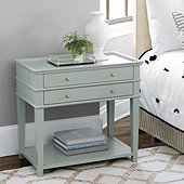 Grace 2 Drawer Open Shelf Side Table