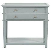 Grace 2 Drawer Open Shelf Side Table
