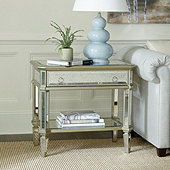 Deanna Mirrored Open Side Table