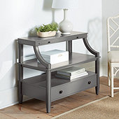 Sidney Open Shelf Side Table with Integrated Charging