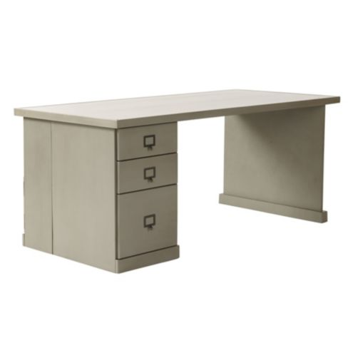 Wood Top - Return Desk with Cabinets