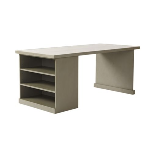 Wood Top - Return Desk with Open Shelf