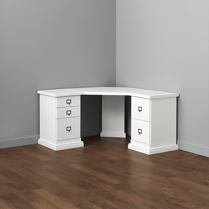 Original Home Office™ Corner Desk with Two 1-Cabinet Credenzas with Wood  Top | Ballard Designs