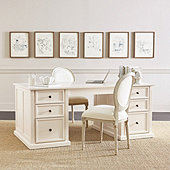 Tuscan Double Pedestal Desk