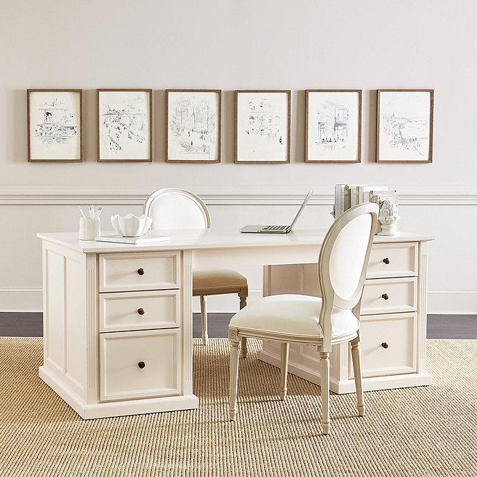 Ballard Design Desk tuscan double pedestal desk | ballard designs | ballard designs