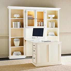 tuscan desk return custom versatility and finishing rh ballarddesigns com ballard design desk hutch ballard design desk accessories