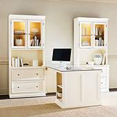 Tuscan Return Office Group with Glass Topper - Large