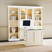 Tuscan Return Office Group with Glass Topper - Small