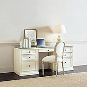 Tuscan Standard Desk with Glass Topper