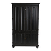 Slim Chadwick Media Armoire - Tuscan Brown