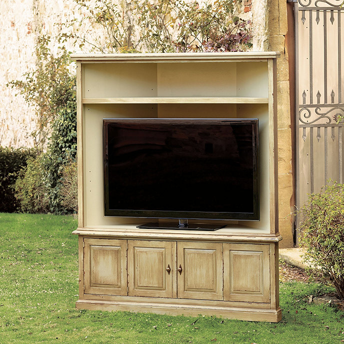 Casa Floina San Marino Corner Media Cabinet With Hutch