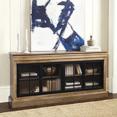 Delano Iron Door Console Table - Greige