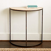 Lola Stone Top Demilune Table