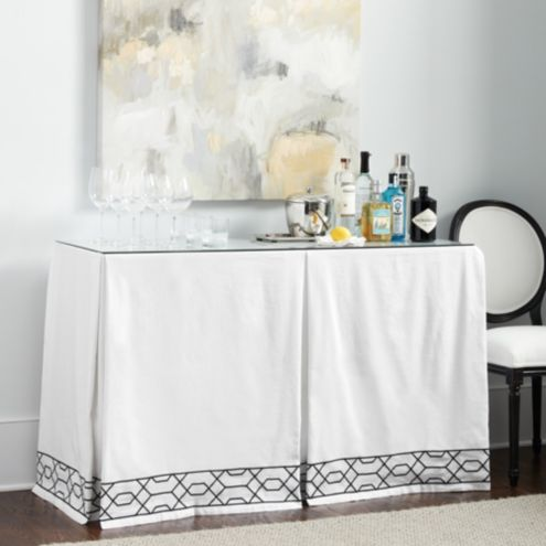 Merveilleux Selene Skirted Console Table