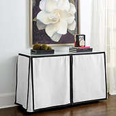 Paneled Trim - Skirted Console Table Trio