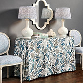Lucinda Skirted Console Table Trio