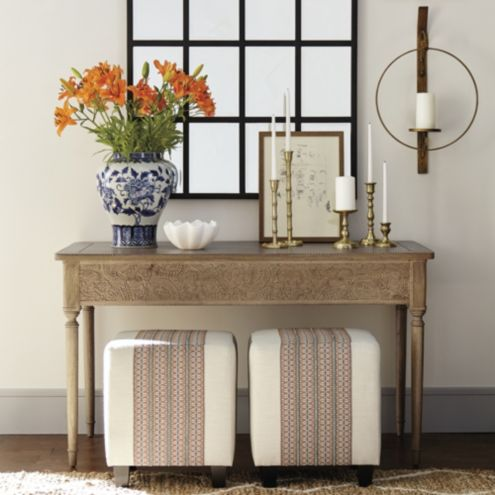 Baylor Carved Wood Console Table