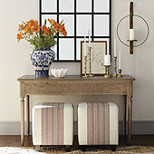 Baylor Carved Wood Console