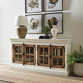 Salerno Glass Door Console