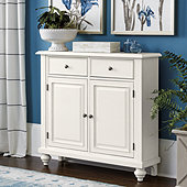 Martin 2-Door Console Table - White