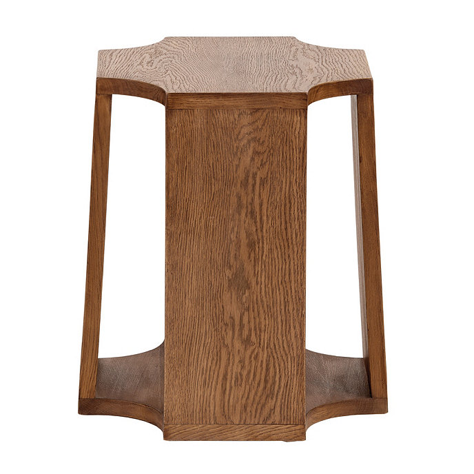 Jasper Wood Garden Stool. Product 2. Current Slide: 1