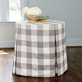 Buffalo Check Skirted Side Table